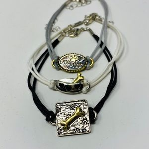 NWOT trio of dog themed string bracelets